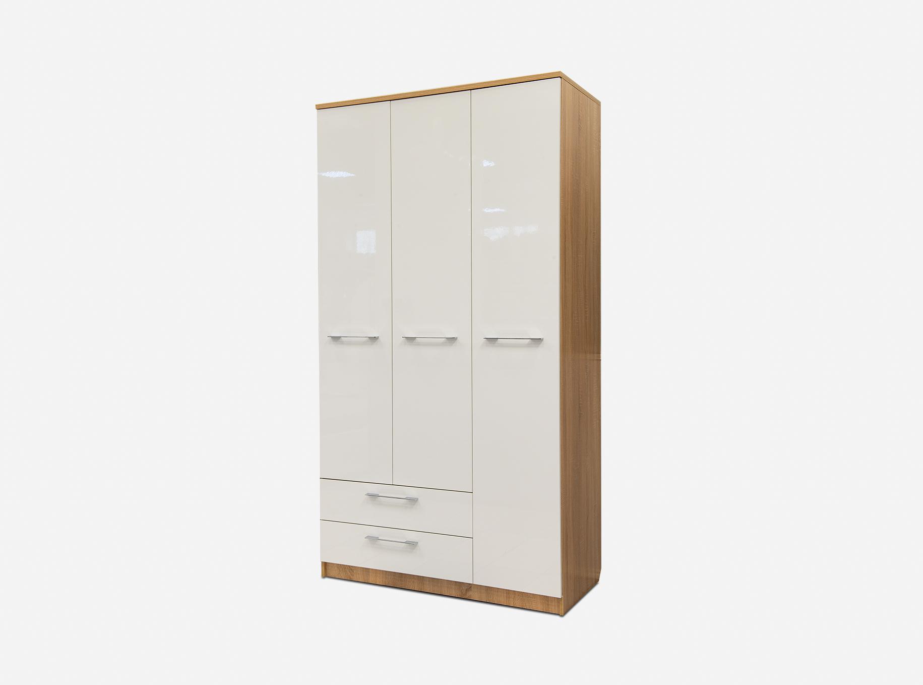 Шкаф 3-х дверный с ящиком